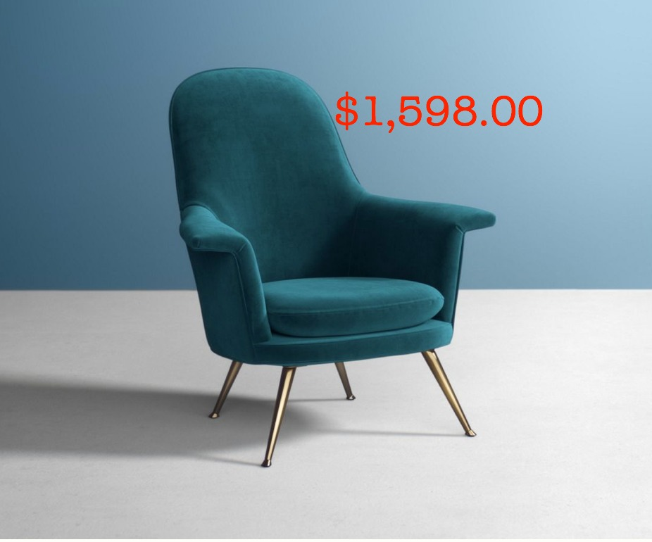 Anthropologie velvet chair