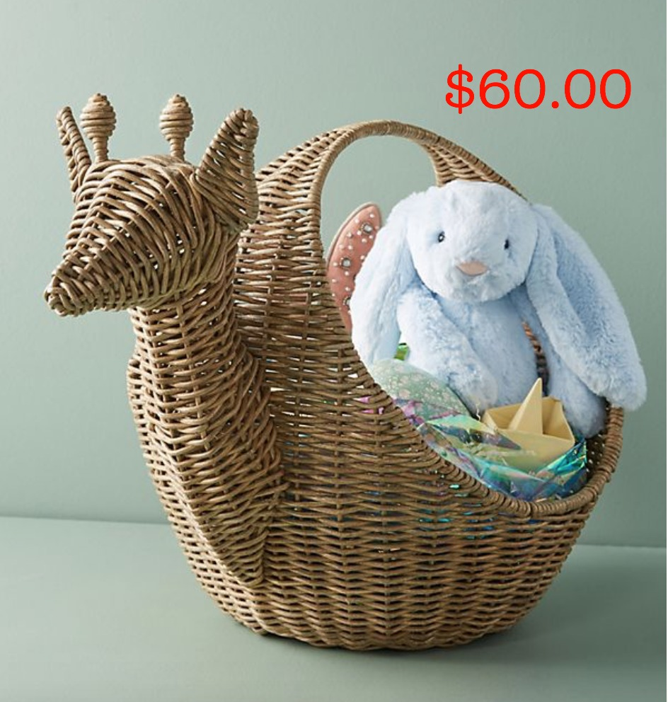 Anthropologie animal basket