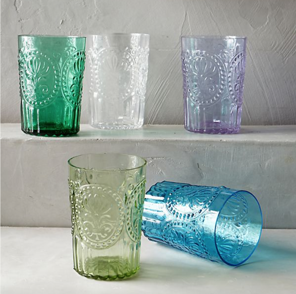Anthropologie fleur de lis glasses