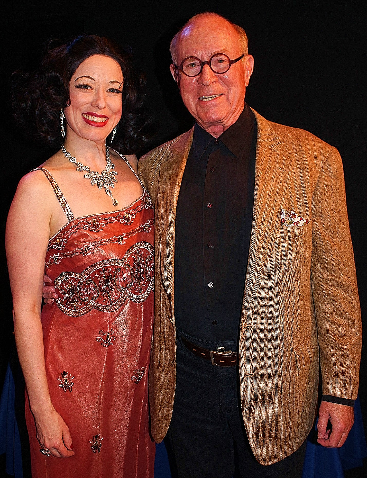 Heather Massie as Hedy Lamarr with Richard Rhodes, Hedy's biographer - Hedy's Folly: The Life and Breakthrough Inventions of Hedy Lamarr The Most Beautiful Woman in the World