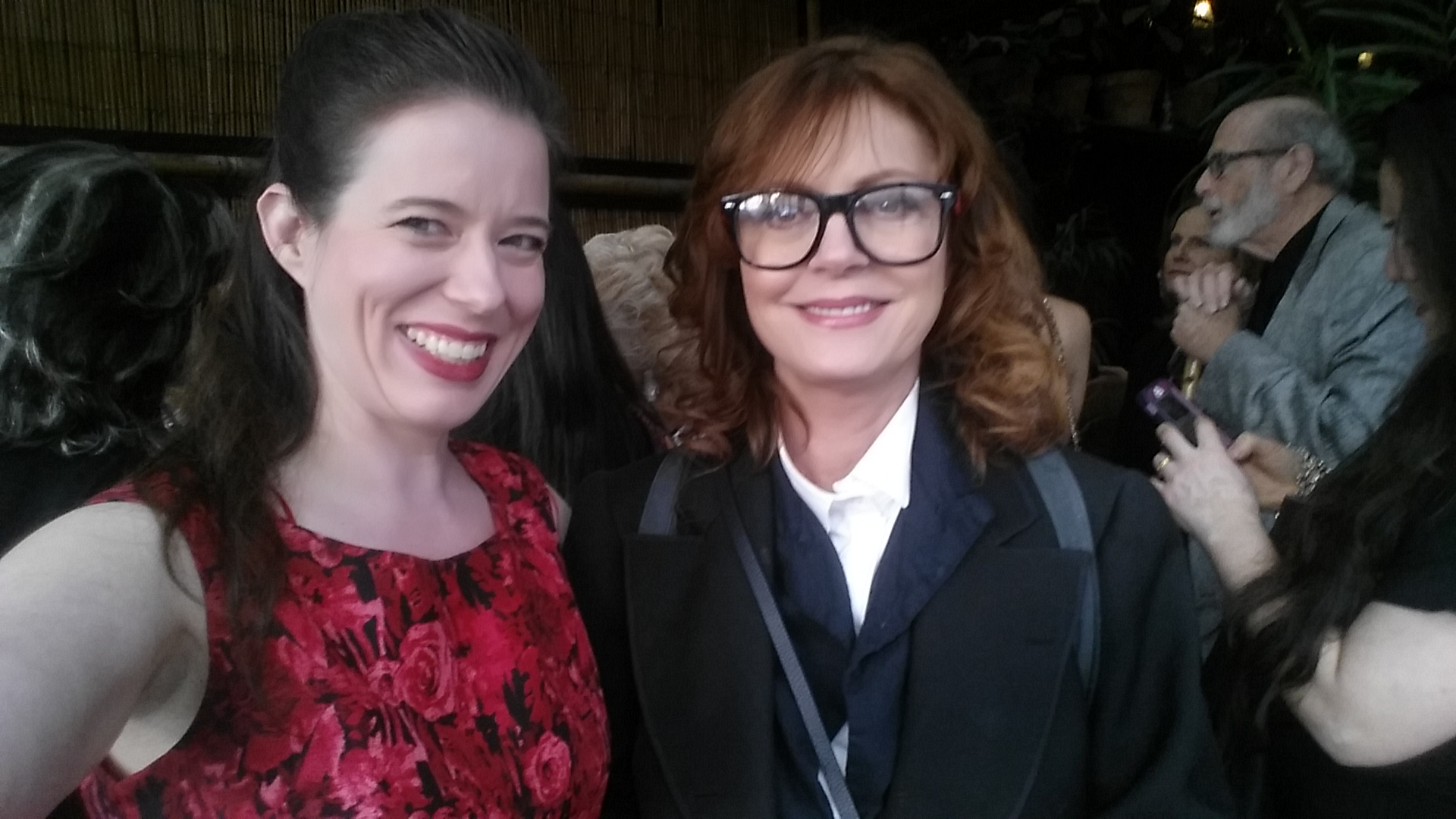 Heather Massie with Susan Sarandon - Executive Producer of documentary on Hedy - Bombshell: The Hedy Lamarr Story