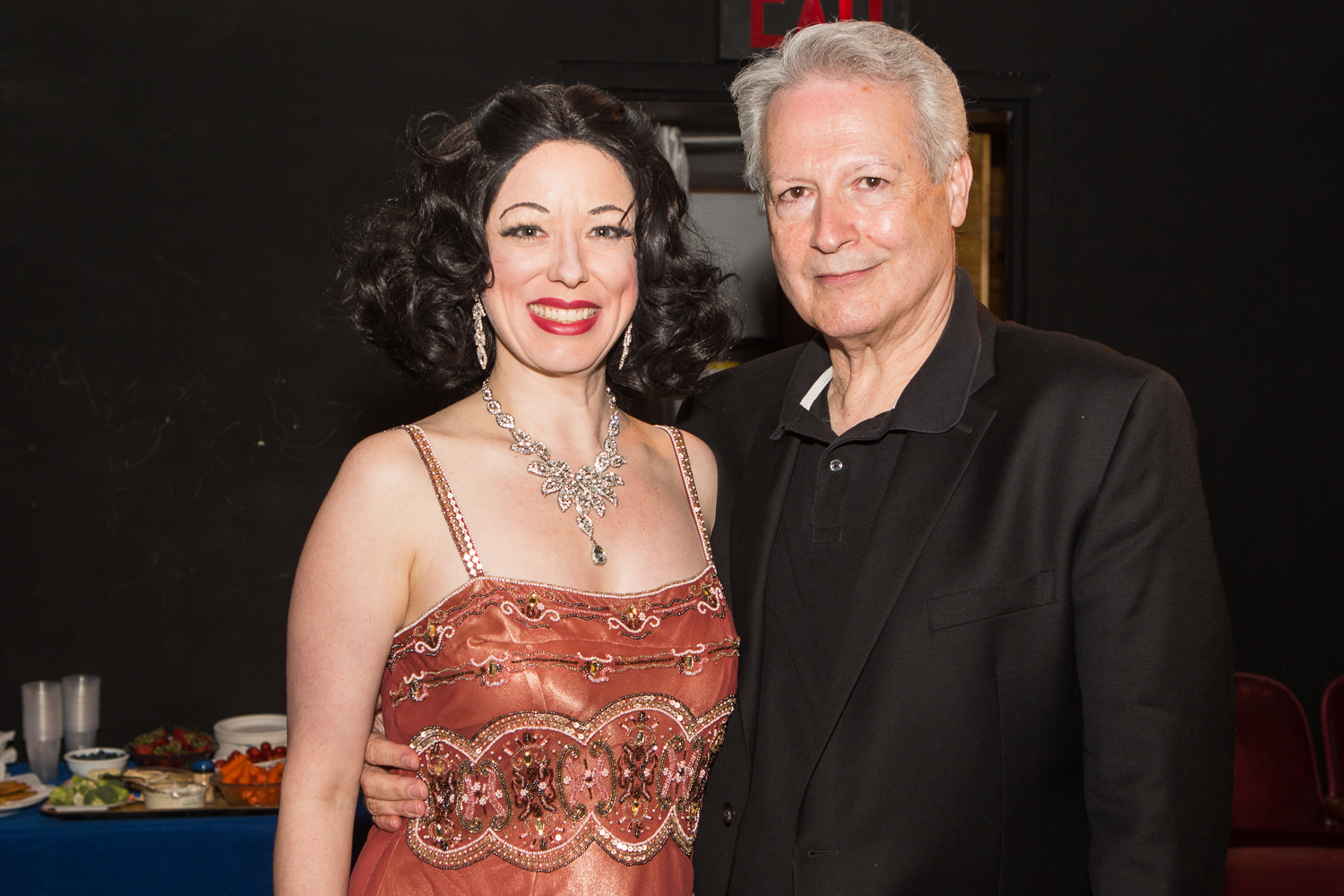 Heather Massie as Hedy Lamarr with Stephen Michael Shearer, Hedy's biographer - Beautiful: The Life of Hedy Lamarr - photo by Al Foote III