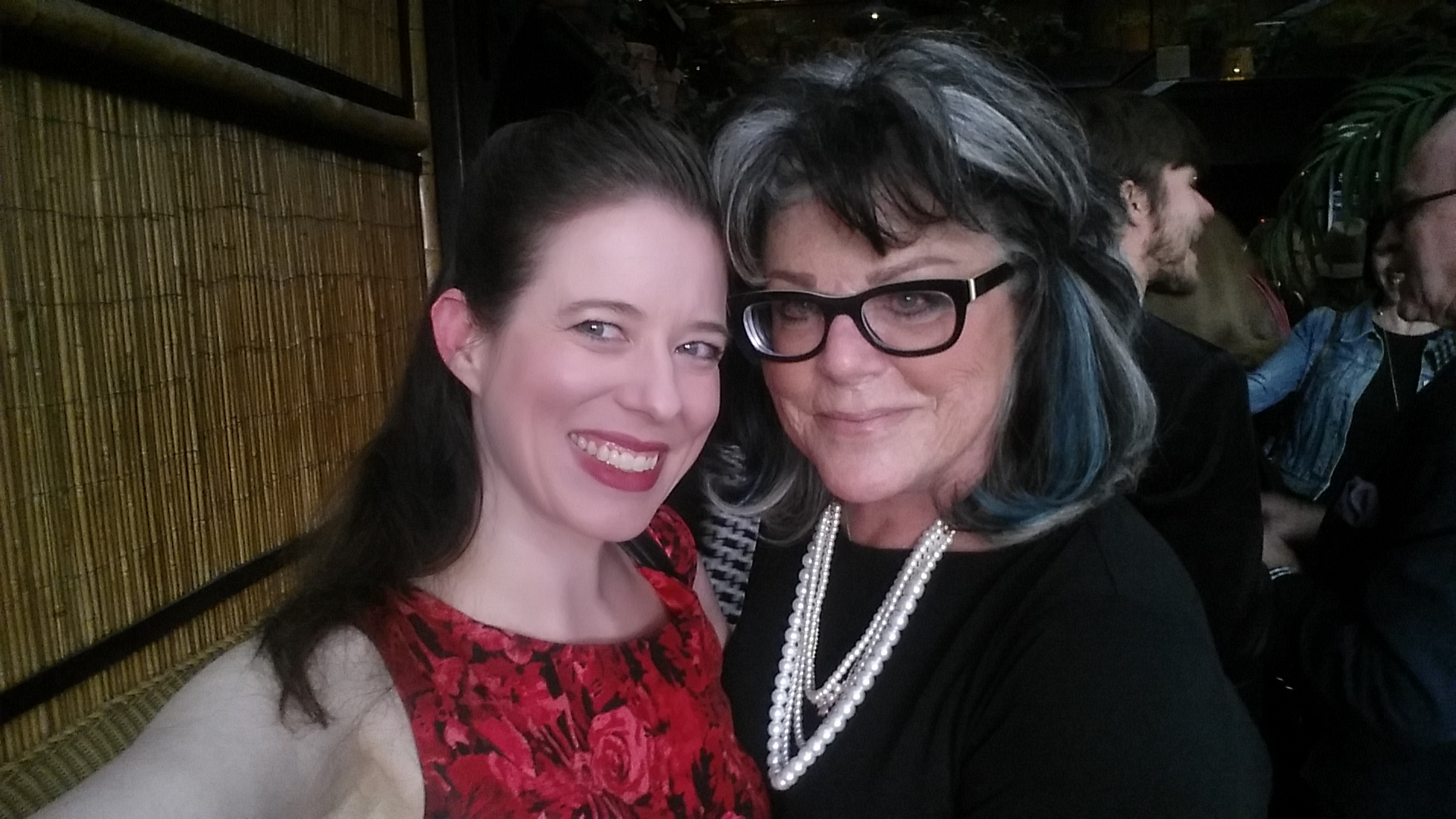 Heather Massie with Denise Loder DeLuca - daughter of Hedy Lamarr