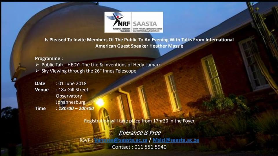 Sky Viewing Invite Johannesburg Observatory HEDY SAASTA NRF 34120409_10156675807585288_7556746944425492480_n.jpg