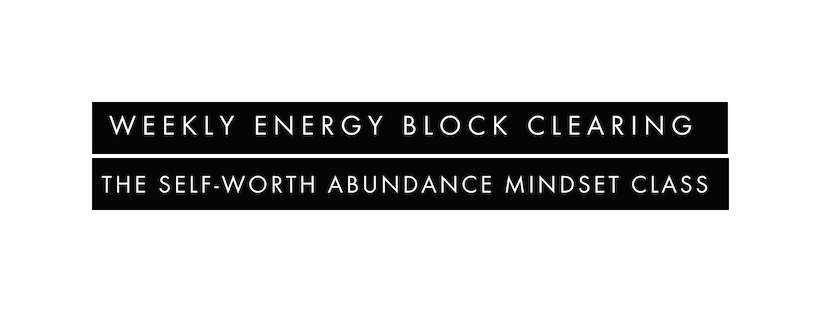 weekly energy block clearing
