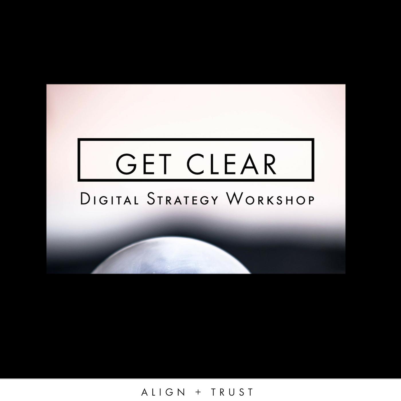 get clear digitial strategy workshop