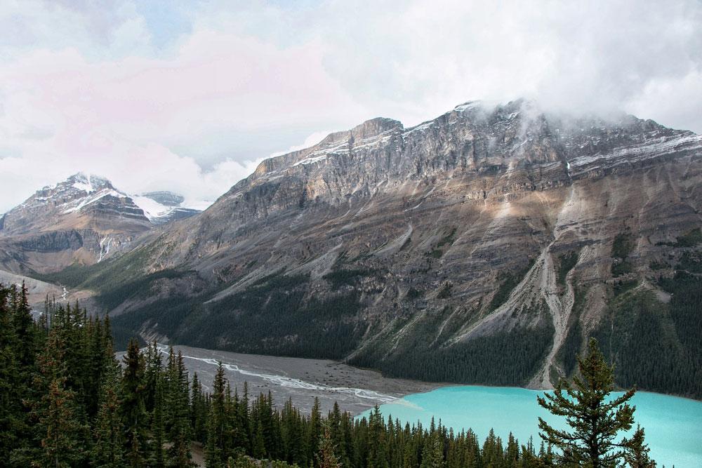 Peyto Lake in Alberta Canada