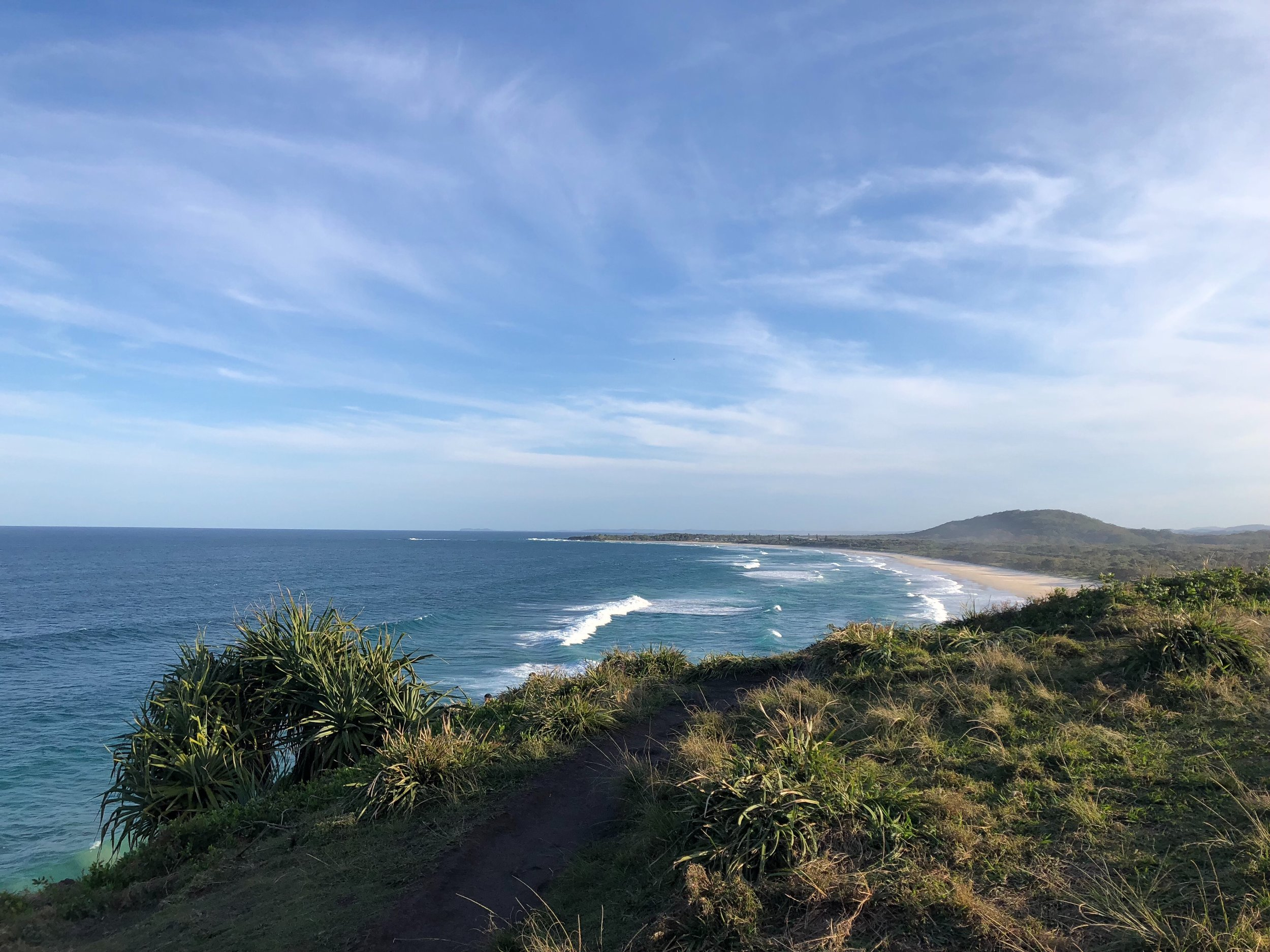 Daily walk up to the top of Norrie's Headland offer these stunning views
