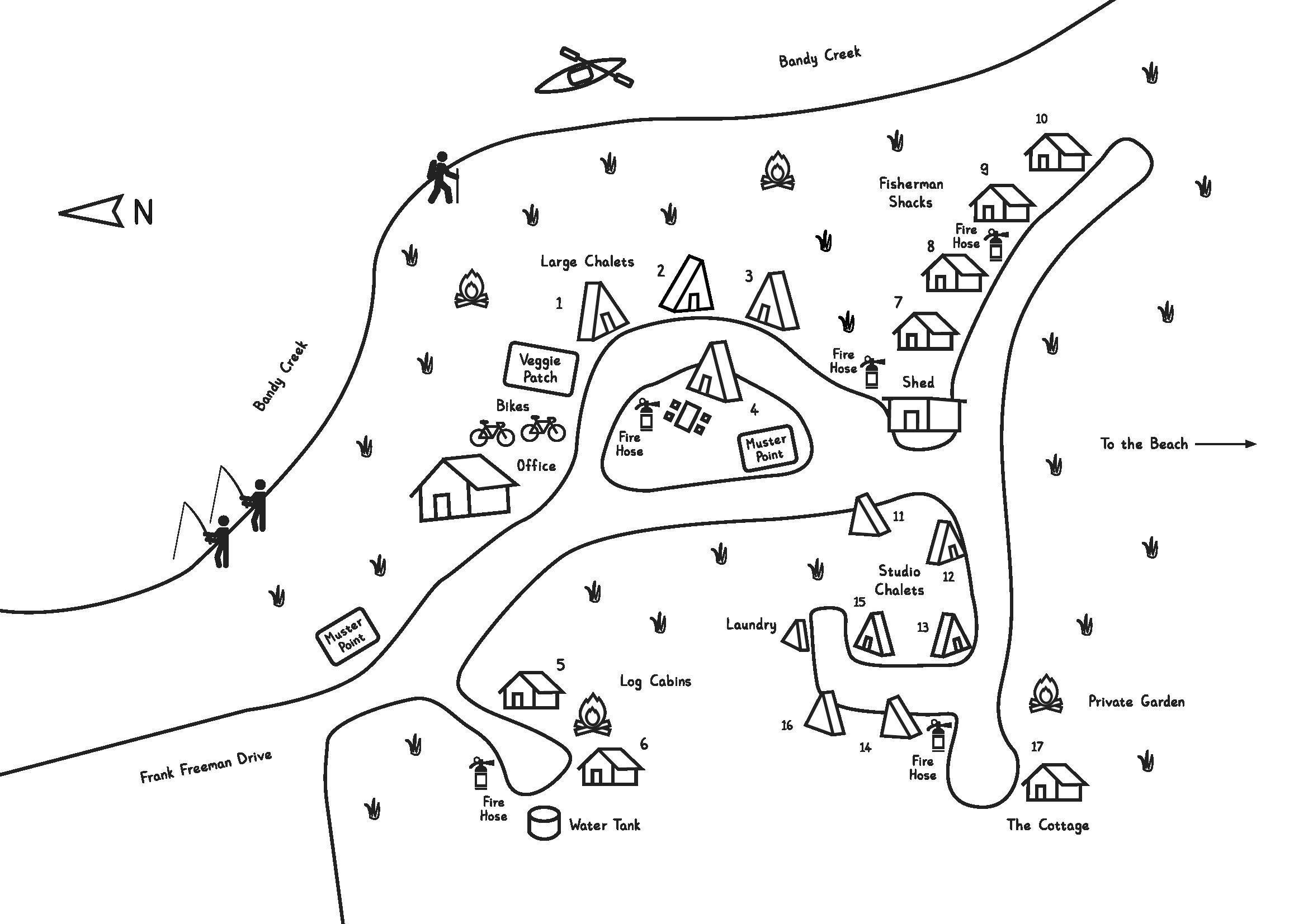 Map of Esperance Chalet Village.png