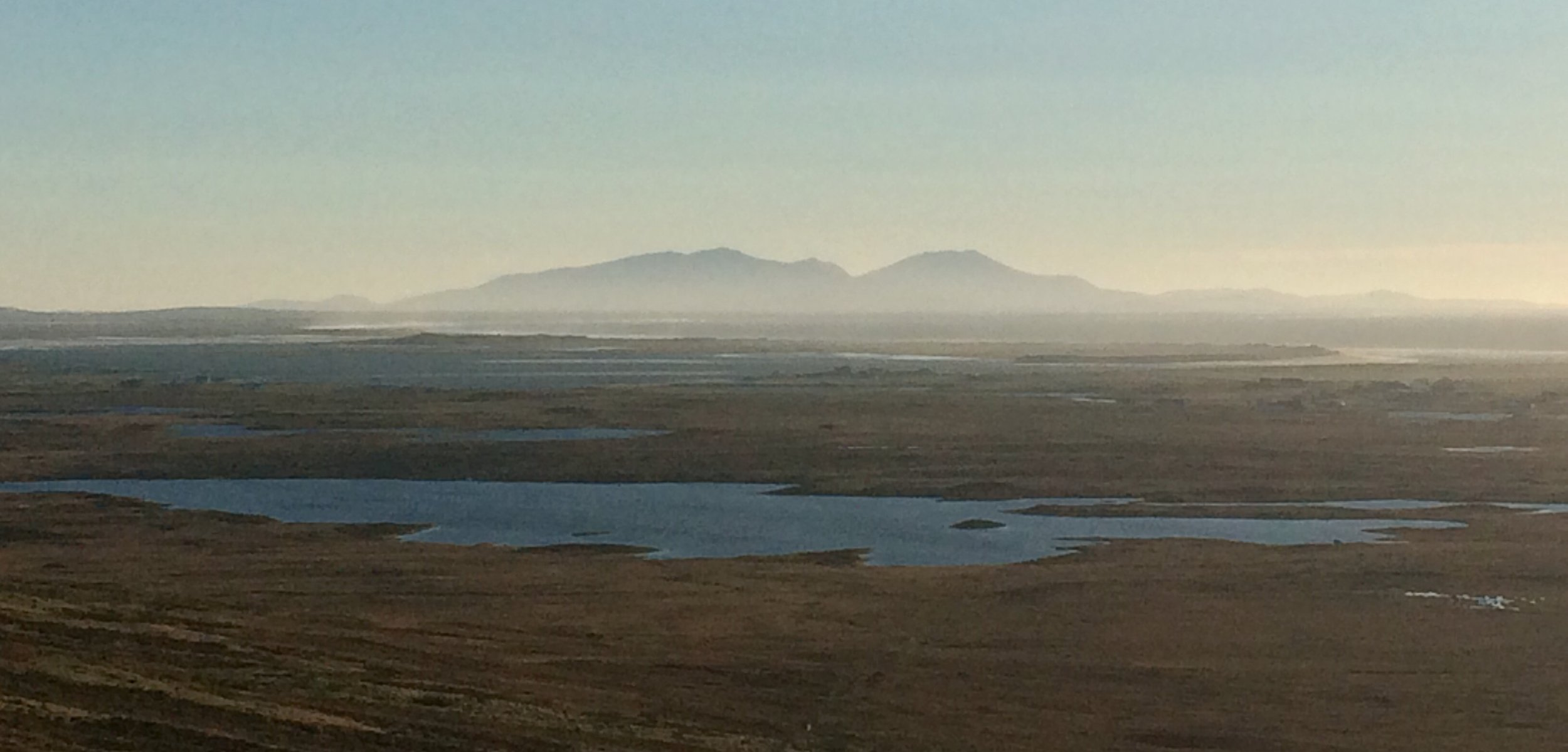 Looking towards South Uist from the St Kilda Viewpoint.