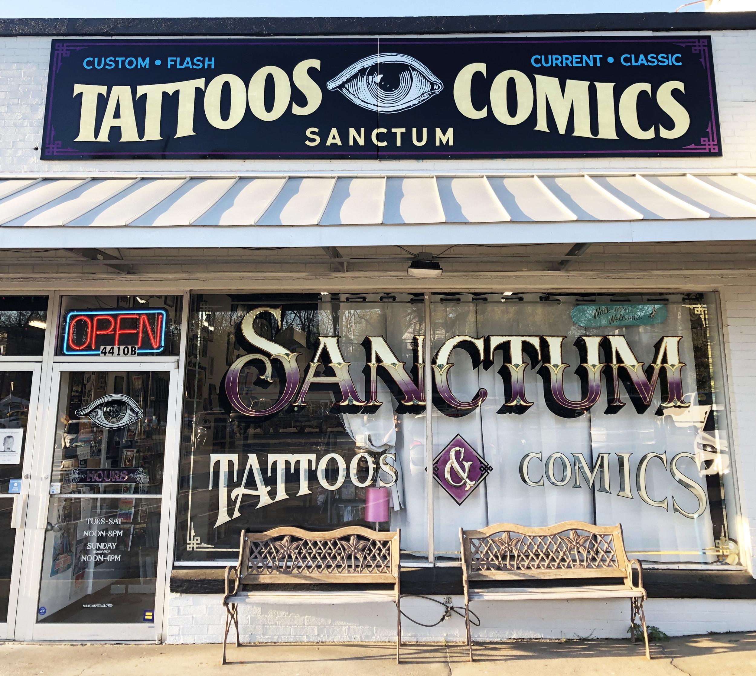 Sanctum Tattoos and Comics