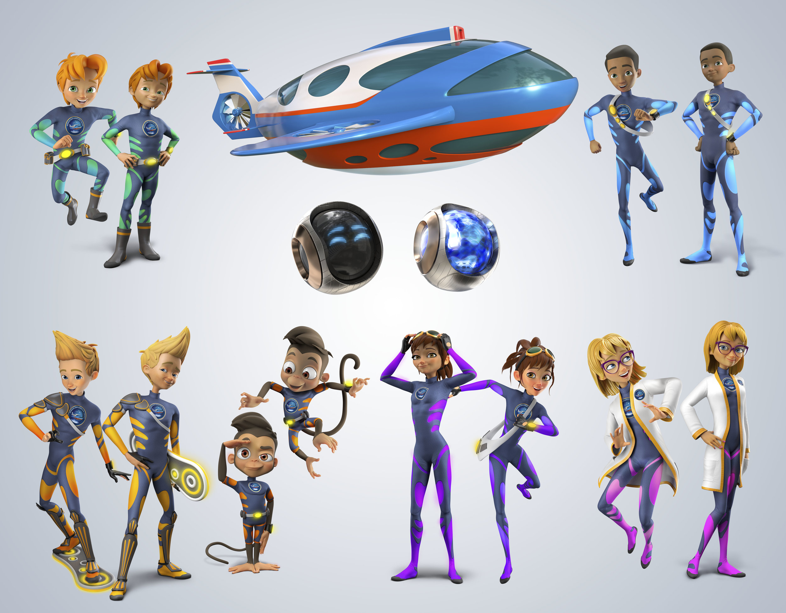 Airship Genesis 3D Characters  - Art Direction (3D Art by Warner McGee Illustration)