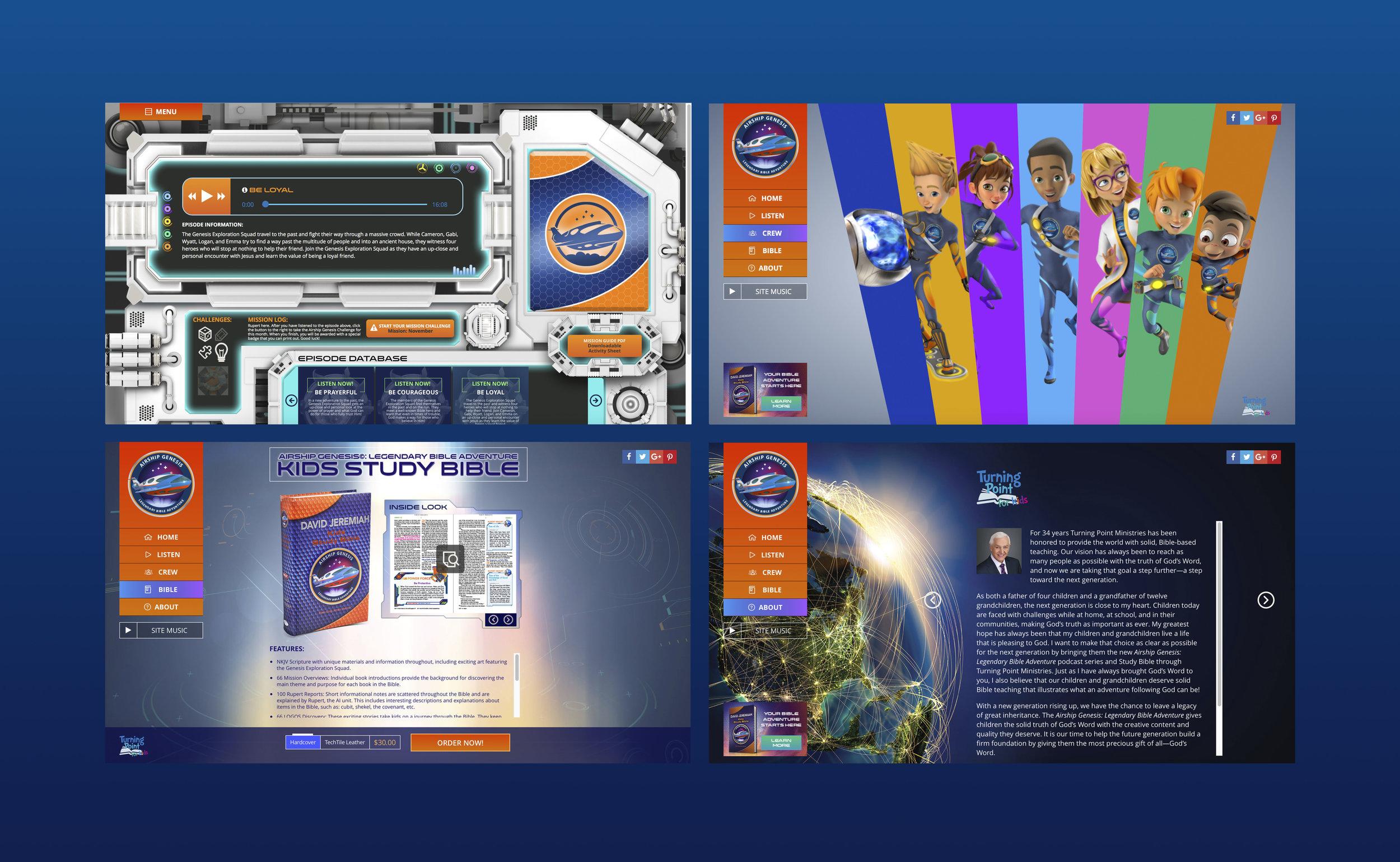 Airship Genesis Website   -    Web Designer and UX/UI