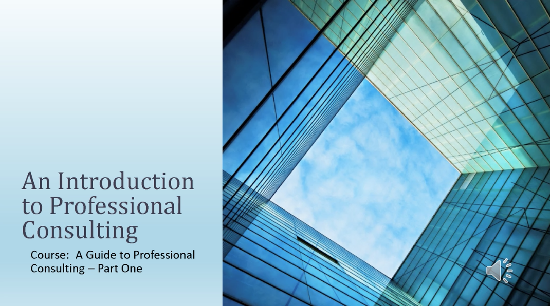 Professional Consulting Chapter 1 - Introduction to Professional Consulting