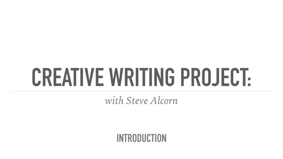 Creative Writing Project: Brainstorm Your Story