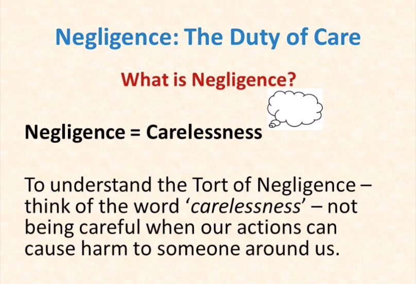 Law of Negligence [Including Pure Economic Loss and Psychiatric Harm]
