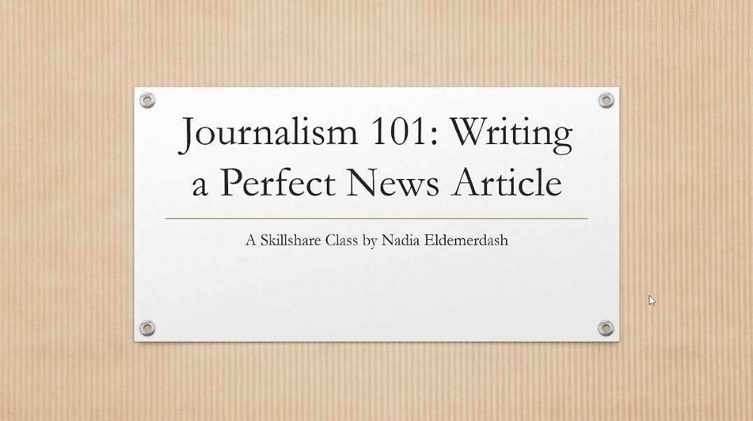 Writing a Perfect News Article
