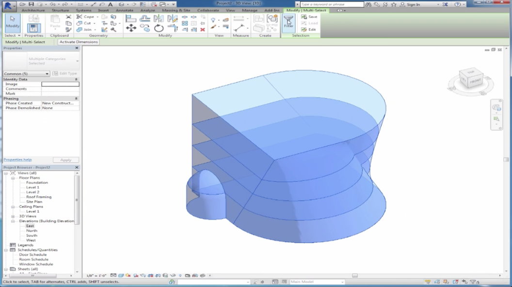 Introduction to Mass Building using Autodesk Revit