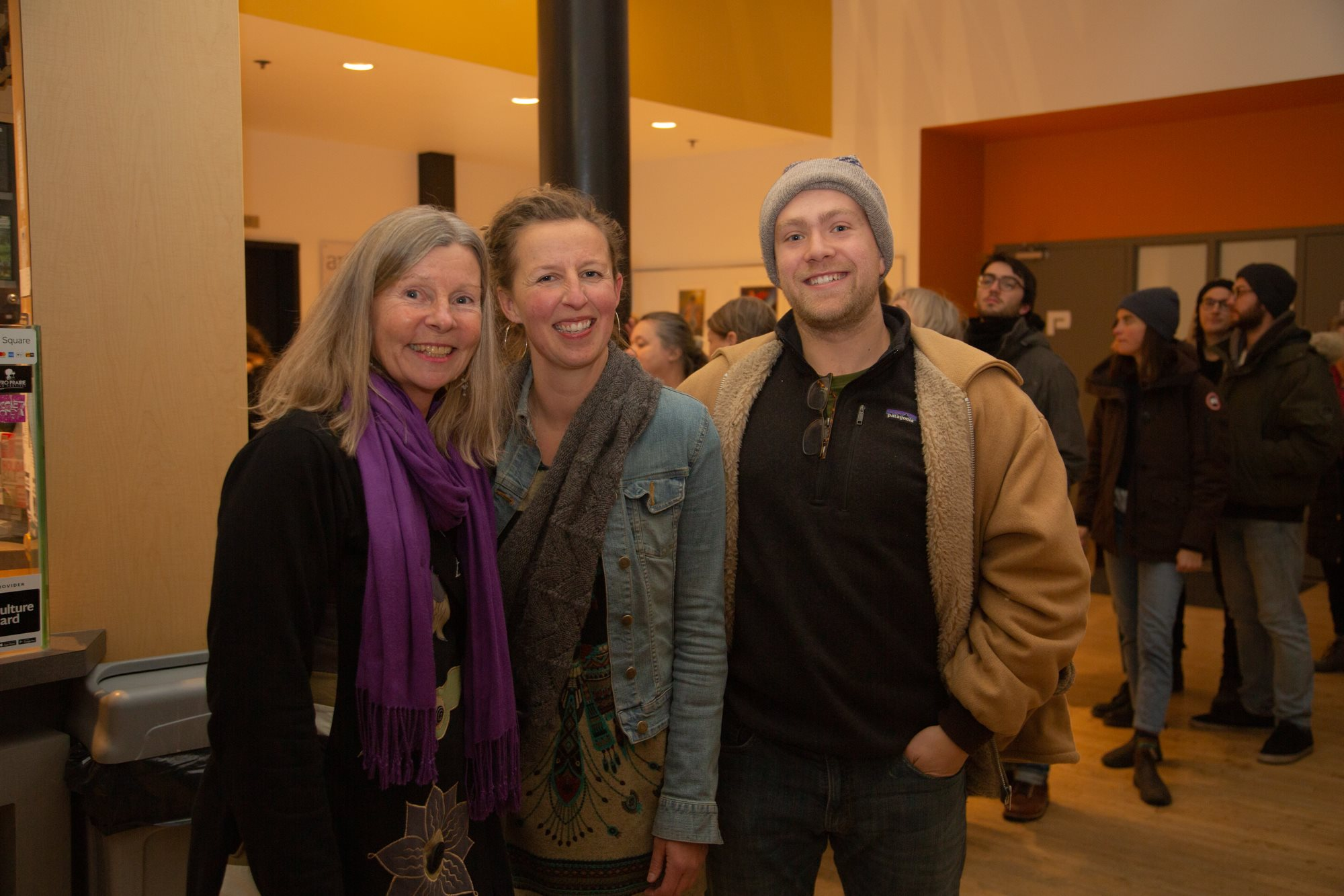 """Katharina, Monique and Jonah at the Winnipeg Screening of """"From Seed to Seed"""""""