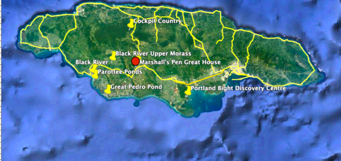 location of marshall's pen and adjacent birding spots