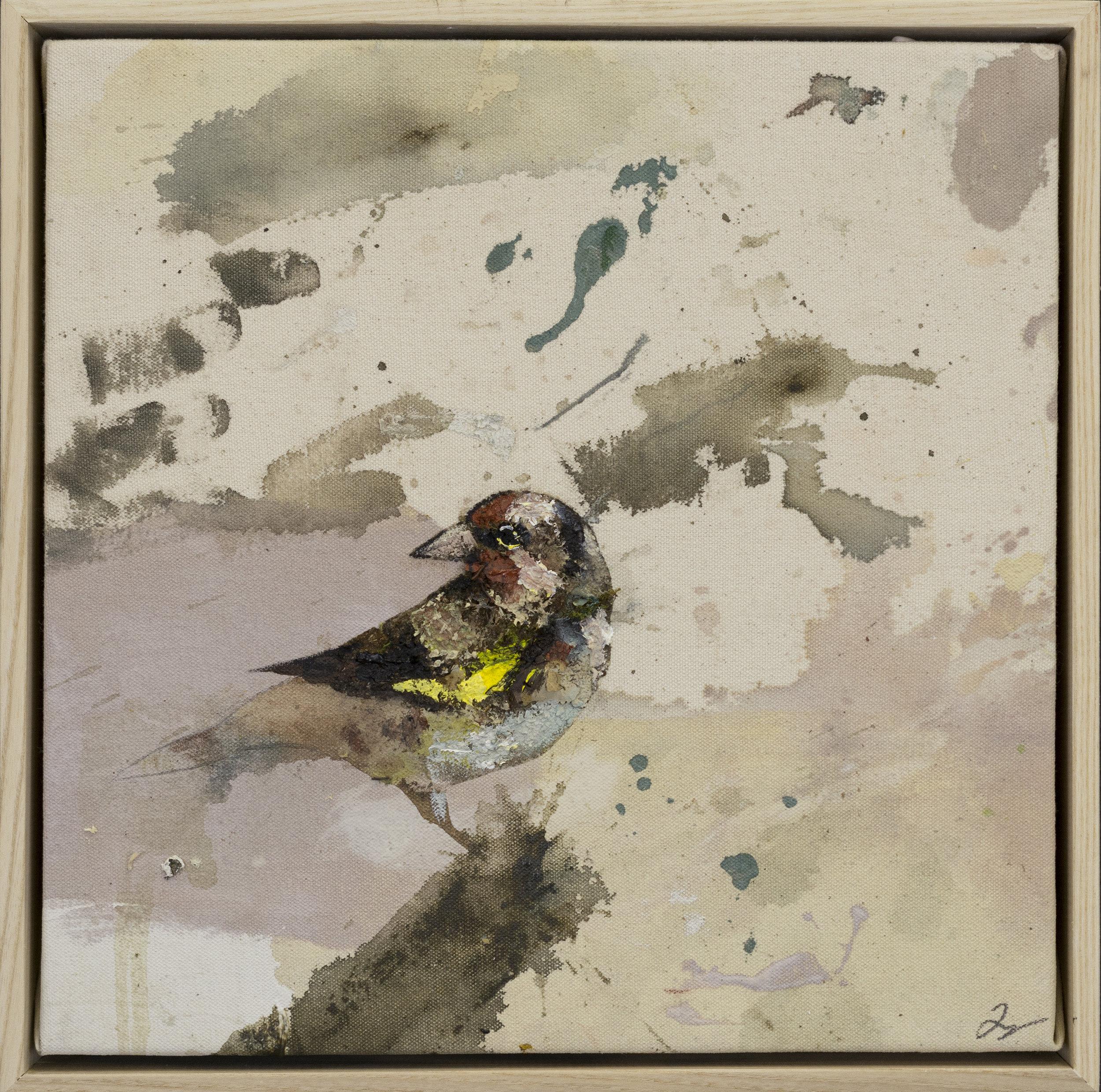 Drop cloth bird # 28