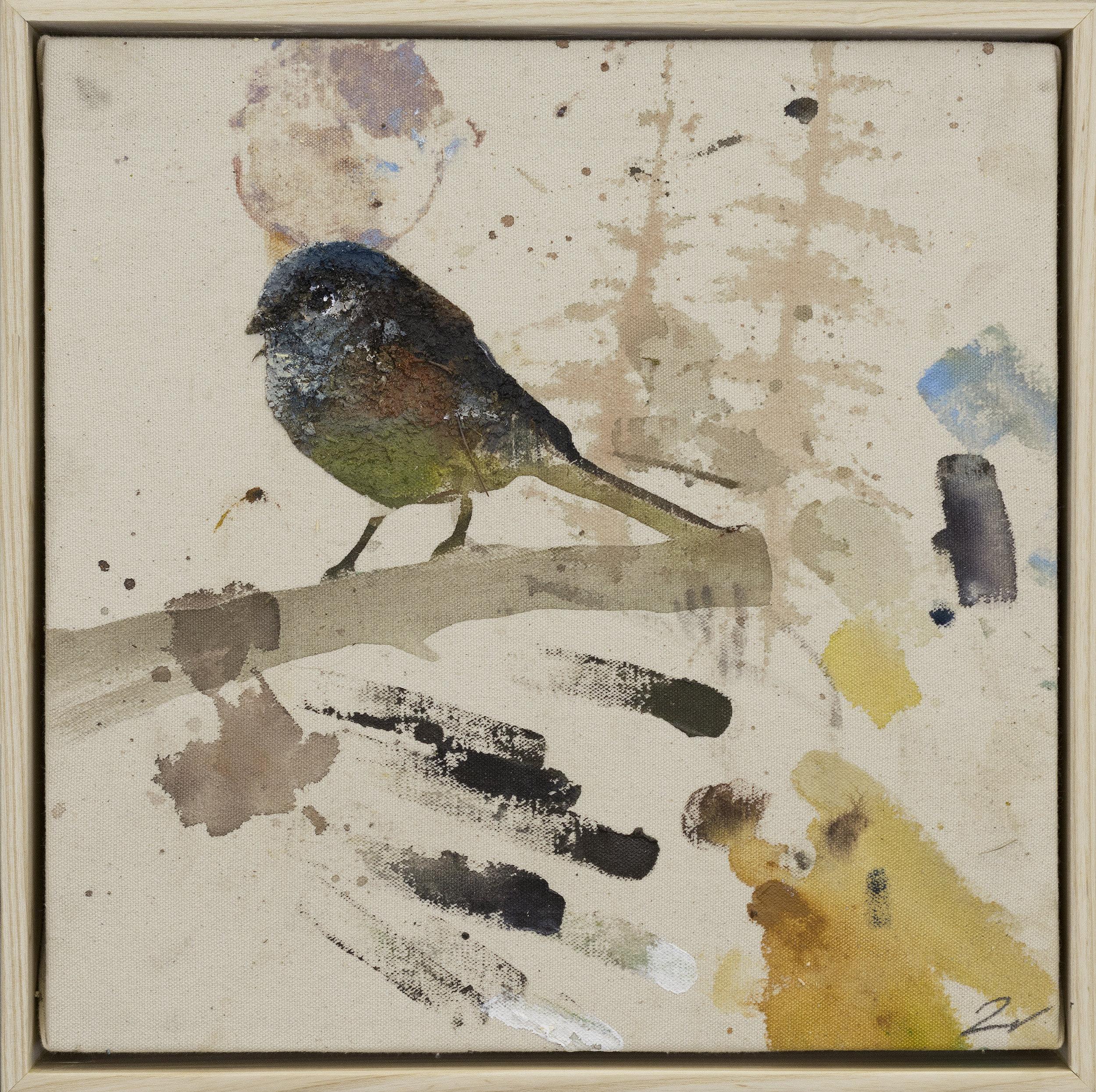 Drop cloth bird # 32