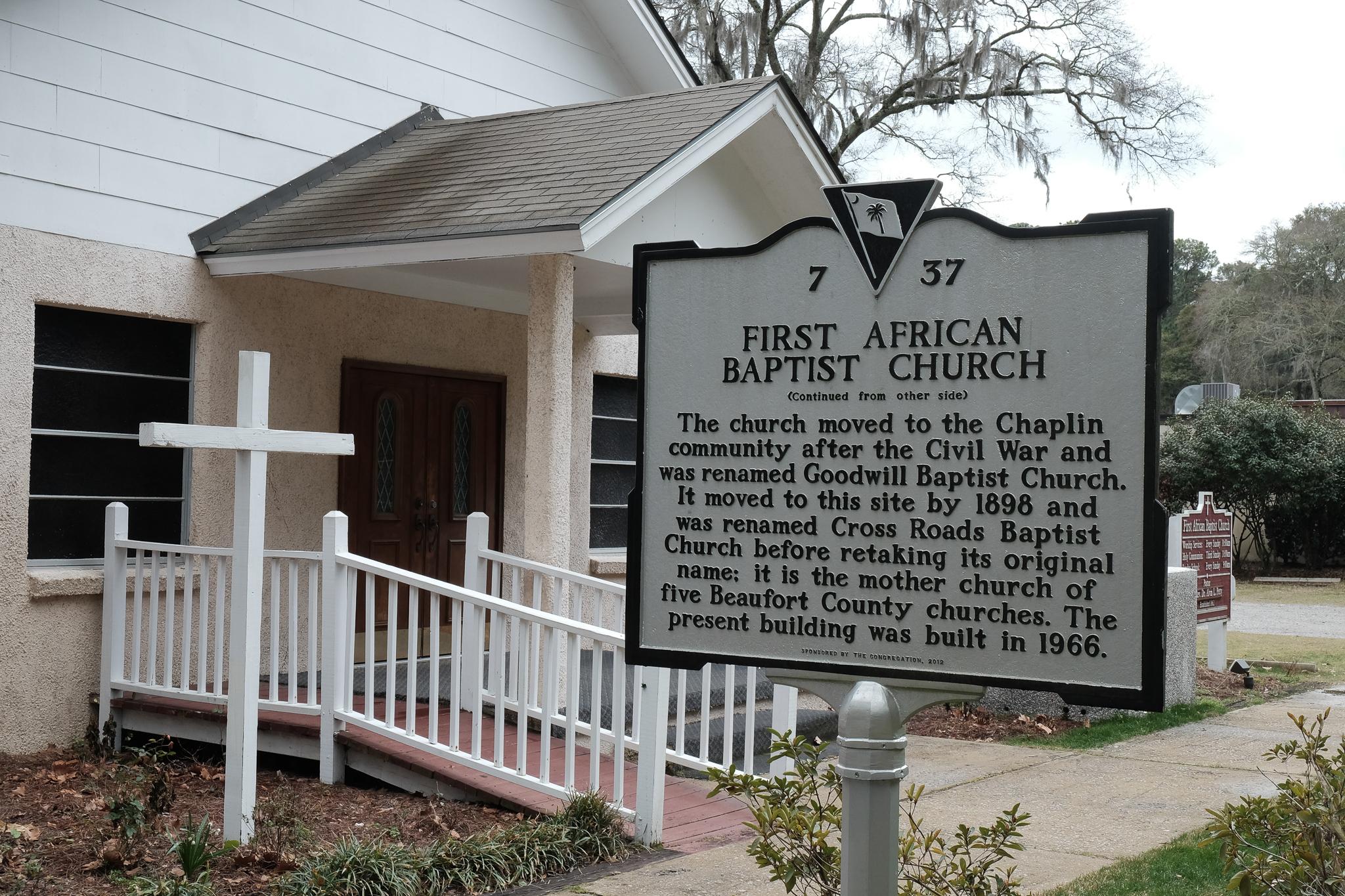 Historical marker, First African Baptist Church