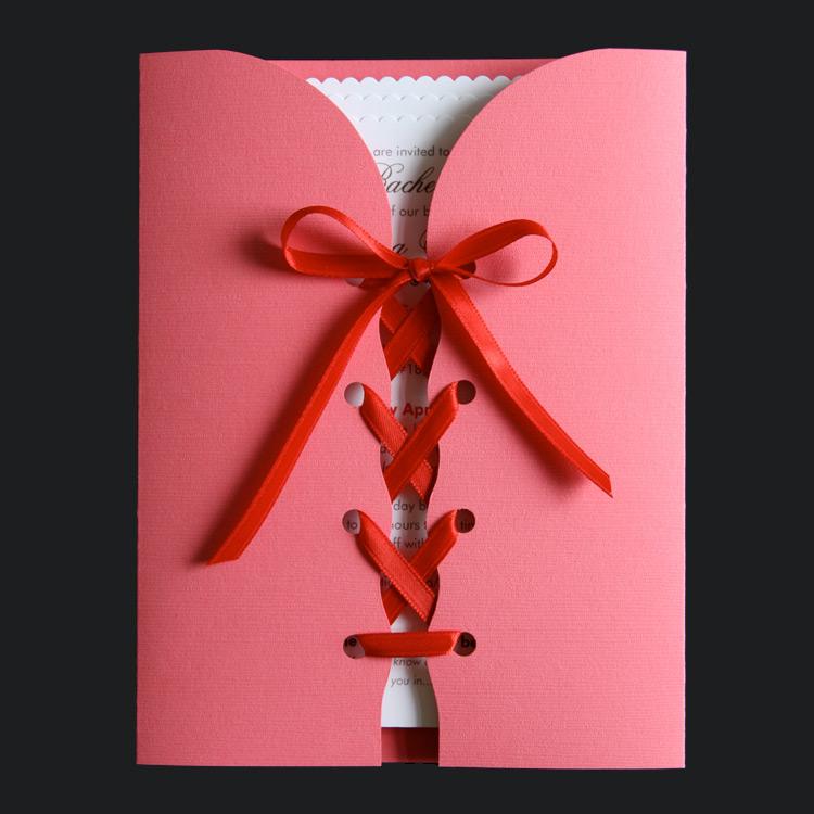 Bachelorette Party Invitation   Title:  N/A  Medium: Inkjet & Ribbon  Year: 2010