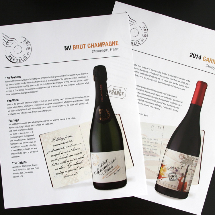 Republic of Wine  Client:  Truett Hurst Inc.   Scope:  Website, POS Displays, Marketing Materials   Visit:   http://www.republicofwine.com