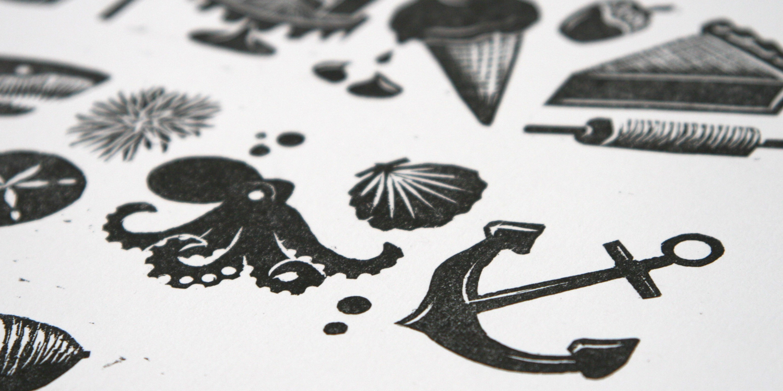 Woodcut Print   Title:  N/A  Medium:  Woodcut  Year: 2016
