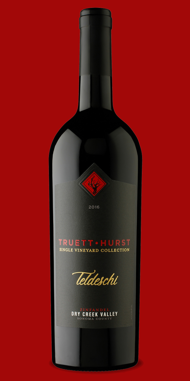 Truett-Hurst Teldeschi Zinfandel    Client:  Truett-Hurst Inc.  Scope:  Label design  Visit:   https://www.truetthurstwinery.com/