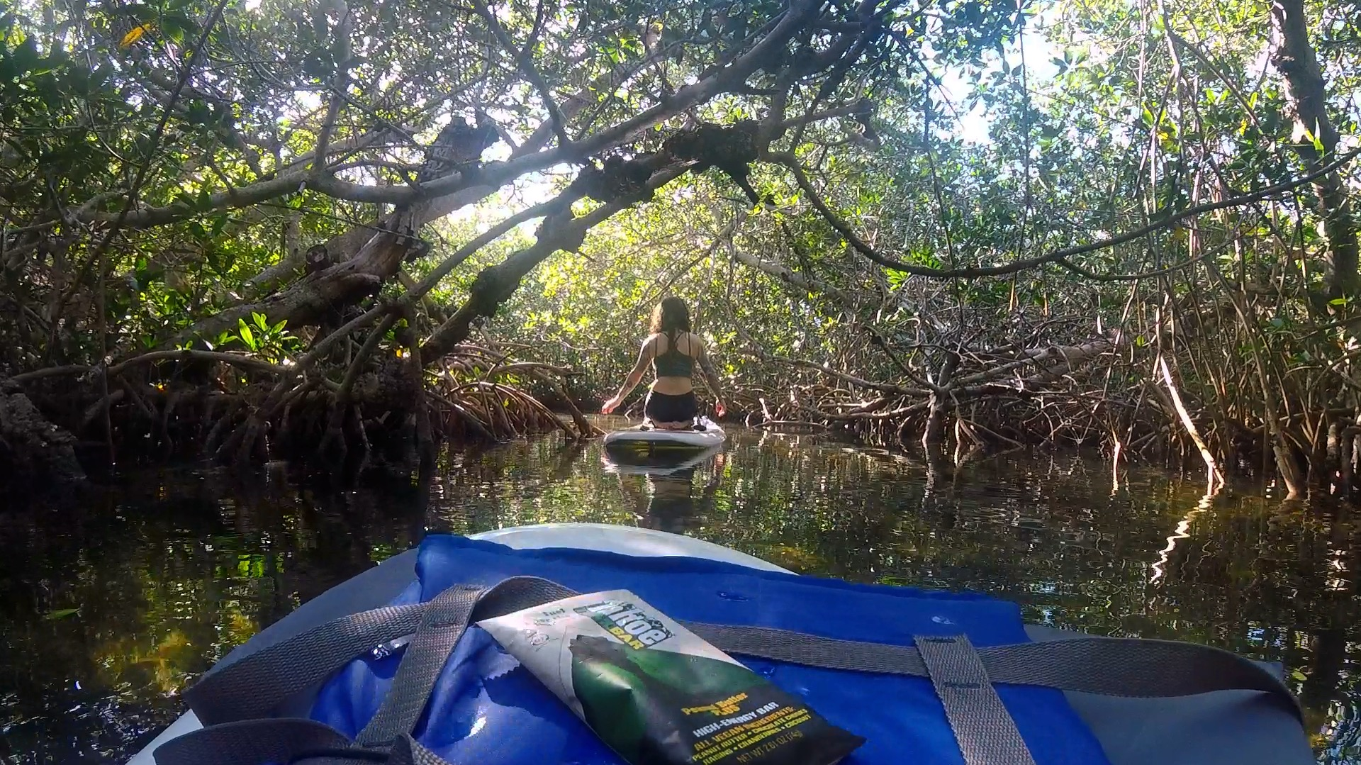 You can get lost in the mangrove tunnels for hours. We brought the perfect snack along.