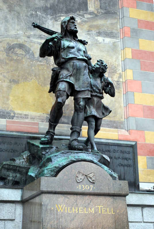 'Wilhelm Tell 1307' William Tell is the common hero of the Swiss, his story is of a single man's struggle against a tyrant which sparks a revolution.