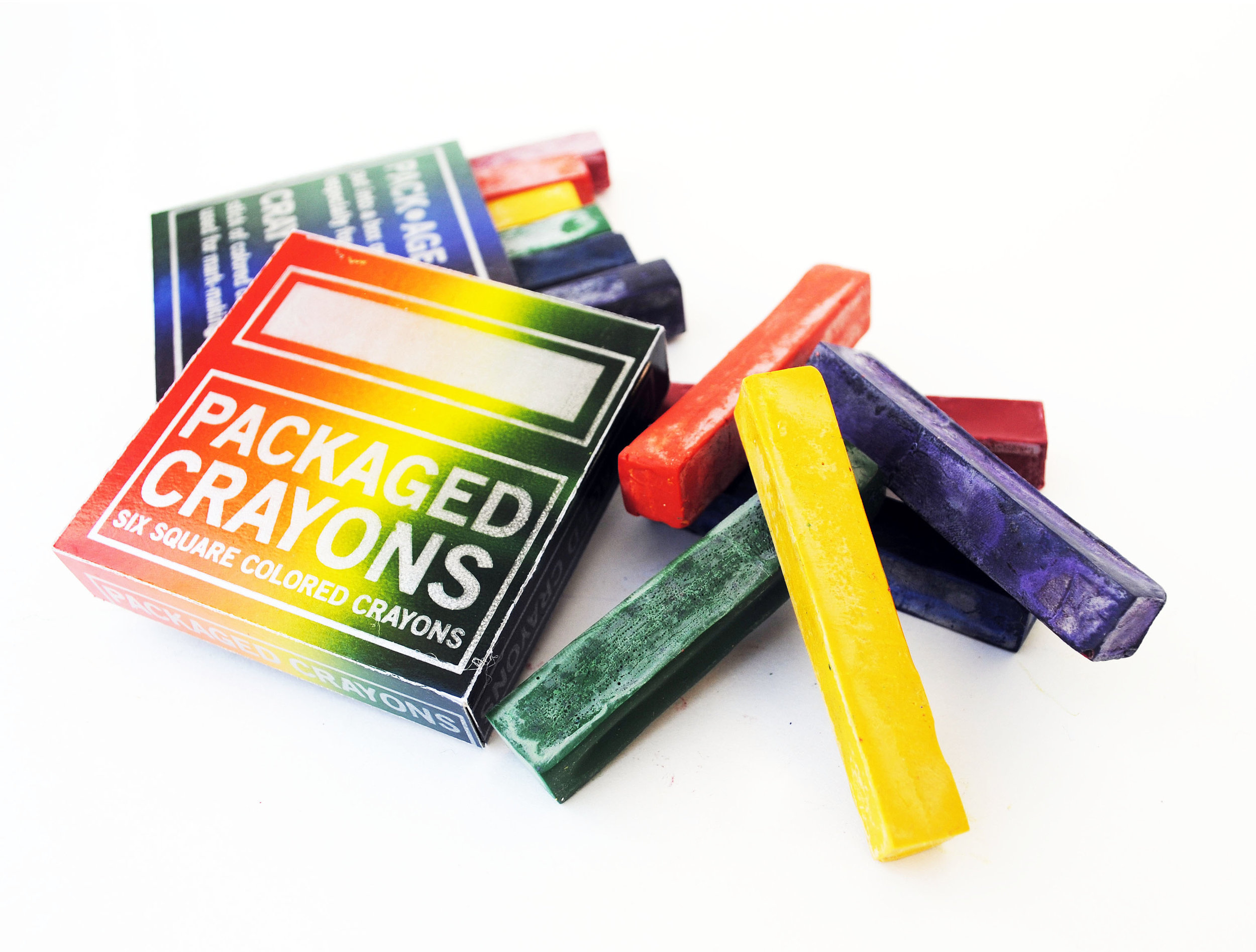 Packaged CRAYONS  , 2016  Letterpress printed boxes & handmade crayons  8 x 5.25 inches