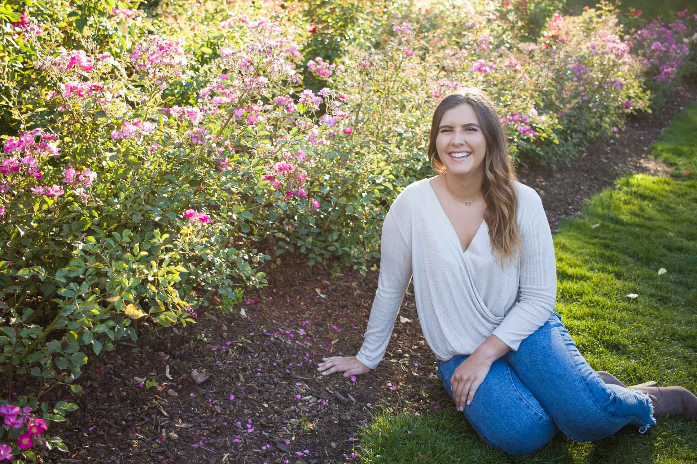 Senior pictures with Kristeen at Peninsula Park in Portland, Oregon