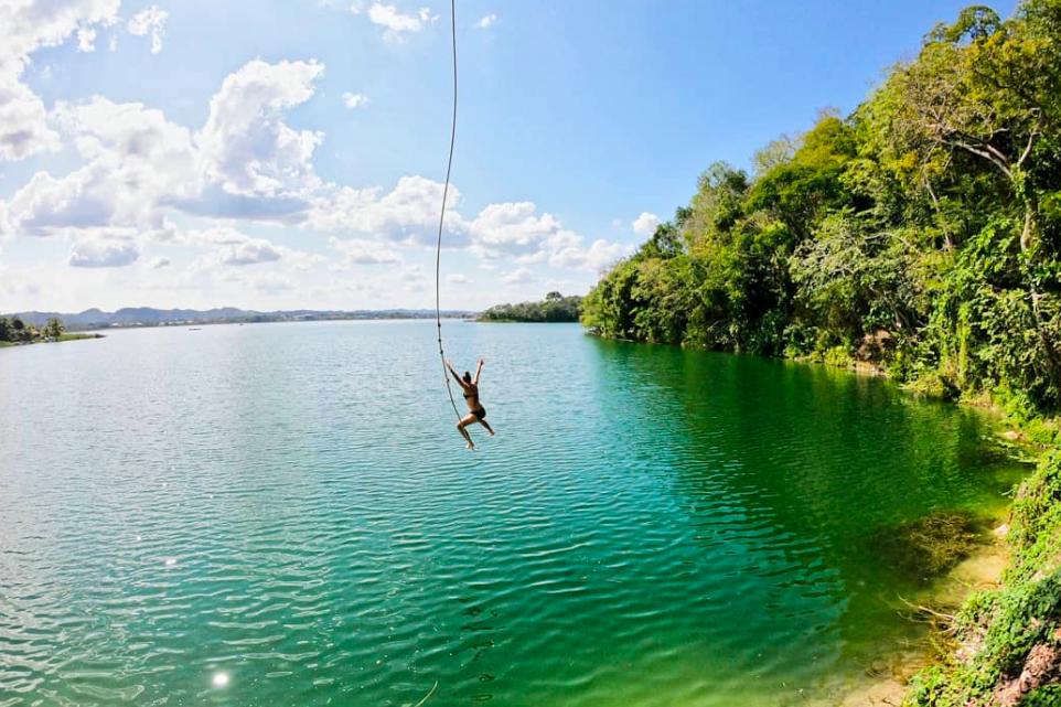 Near Flores - Rope Swings!