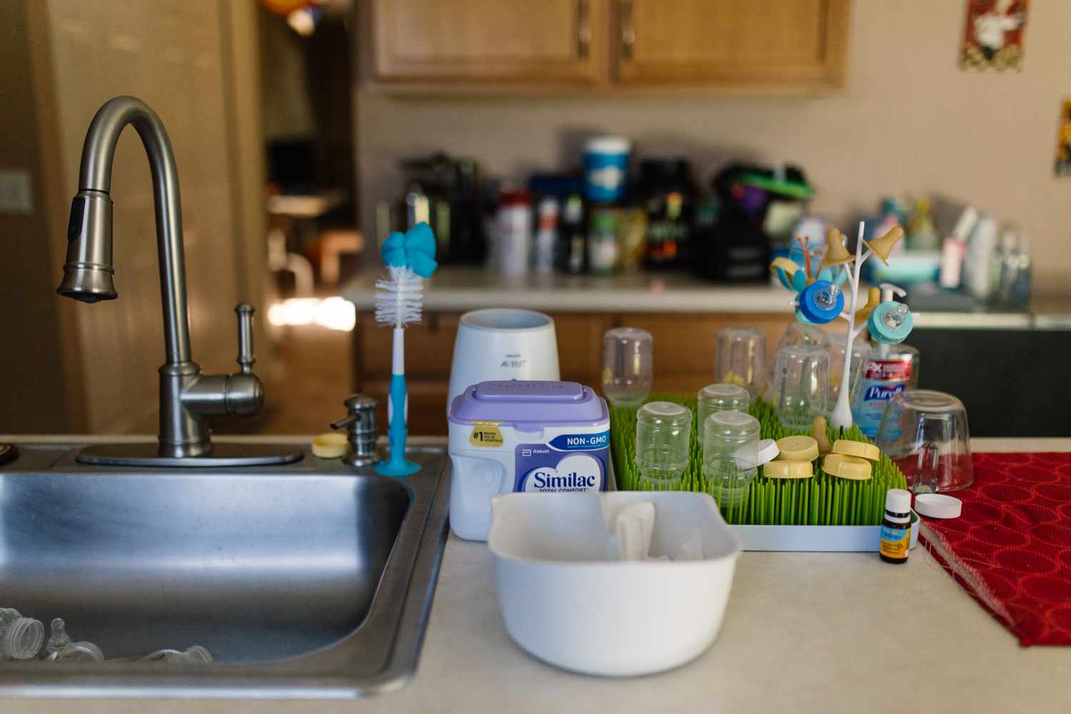 Kitchen Counter with Baby Bottles Documentary Family Photograher Orlando.jpg