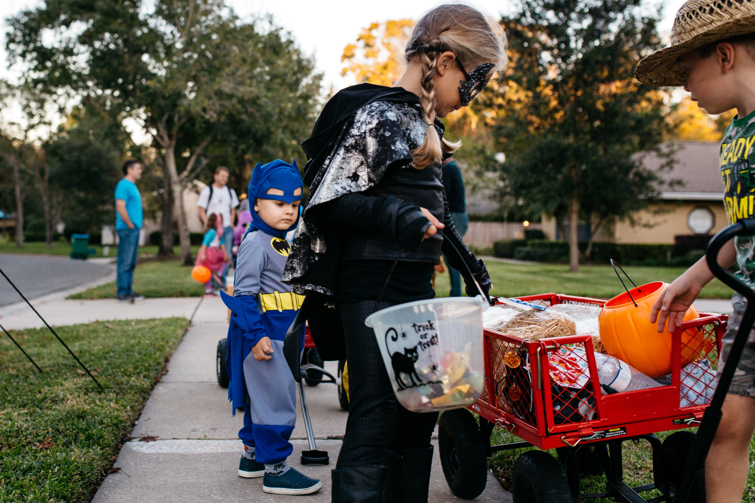Batman Trick or Treating In Orlando Family Photojournalism.jpg