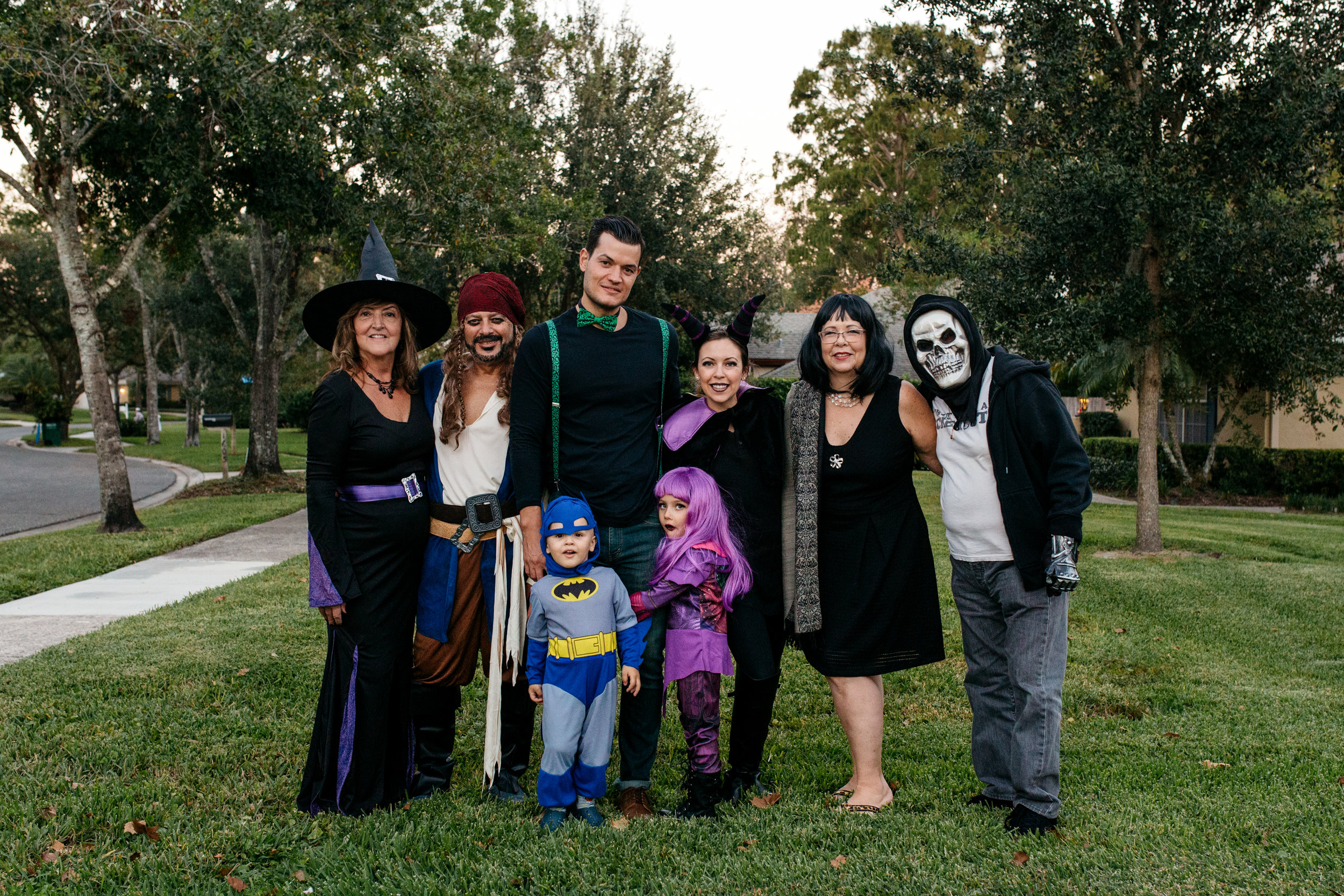 Family Portrait in Halloween Costumes Orlando Family Photographer.jpg