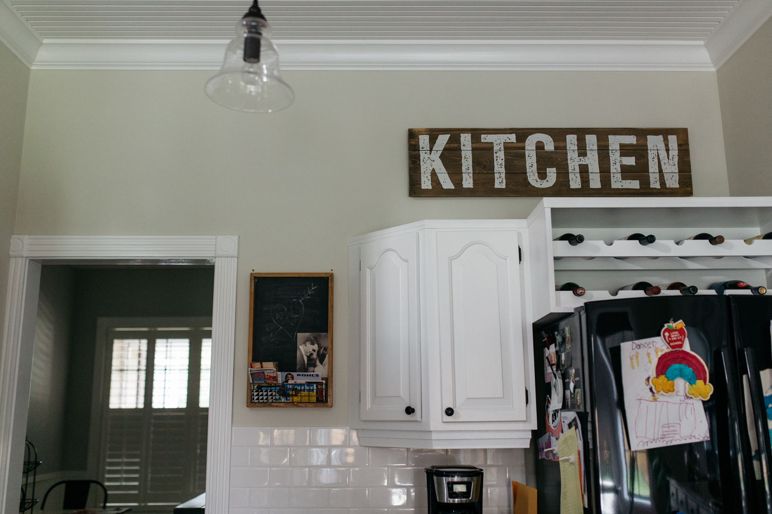 Kitchen Sign in Kitchen Central Florida Documentary Photographer