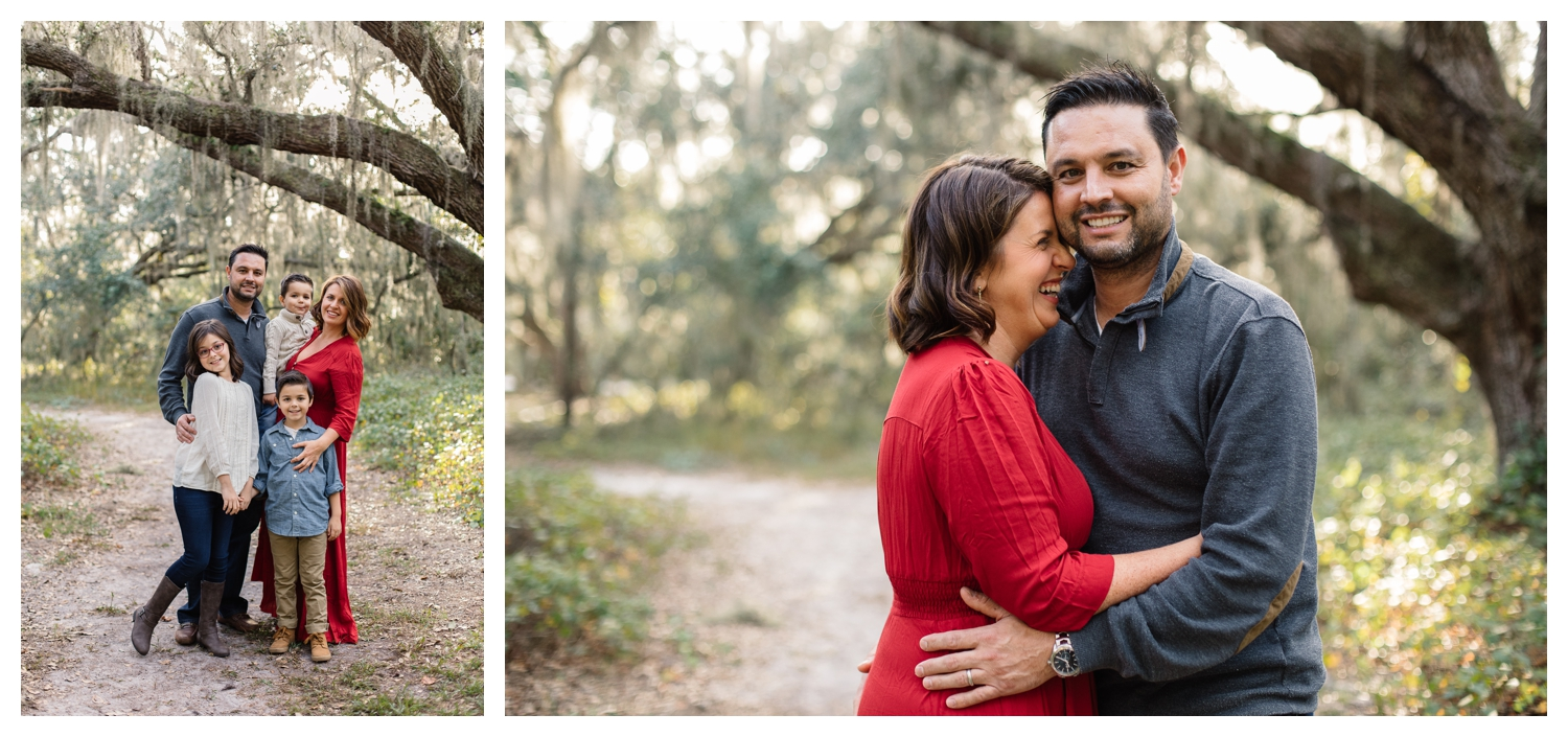 Lifestyle Family Session in Park at Sunset with Oak Trees Orlando Family Photographer.jpg