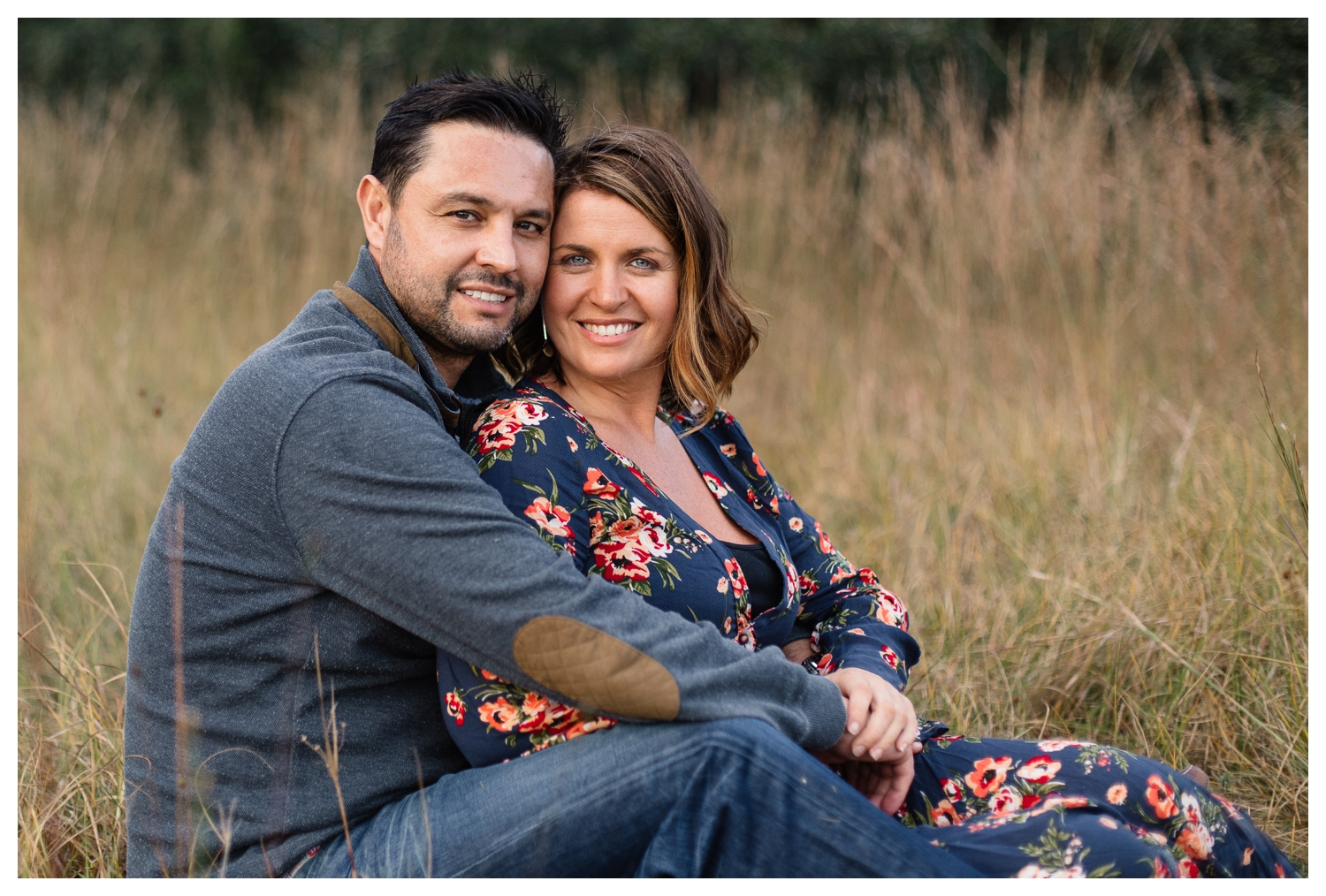 Portrait of Husband and Wife In Field Orlando Family Photographer.jpg