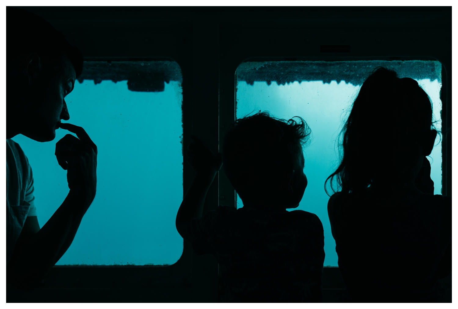 Family Silhouettes in Aruba Submarine.jpg