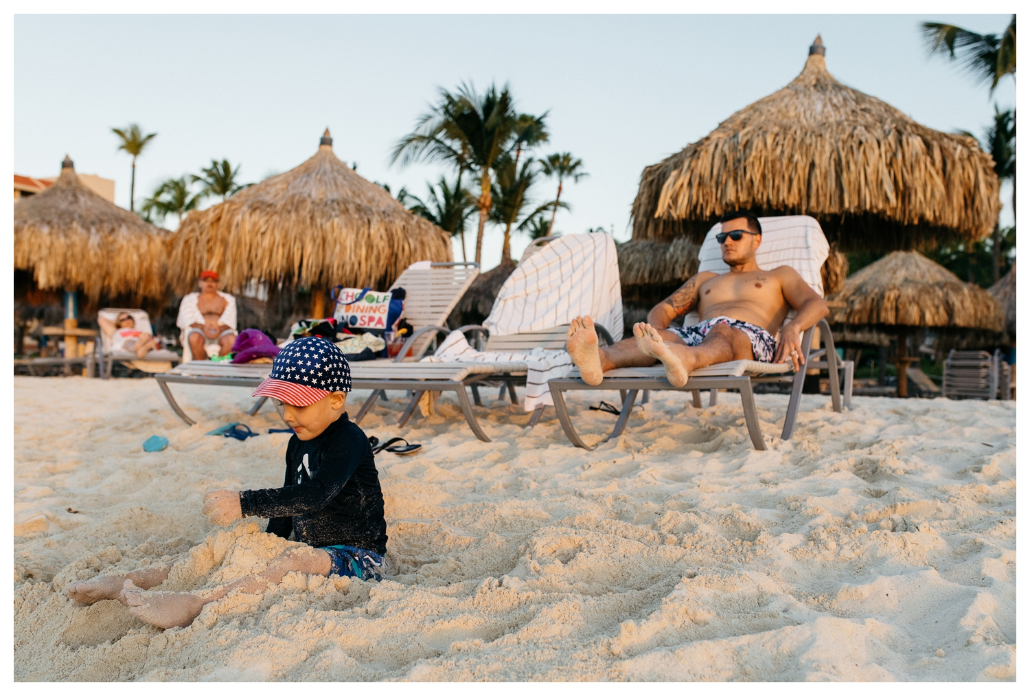Boy Playing in Sand at Sunset Aruba Hilton.jpg