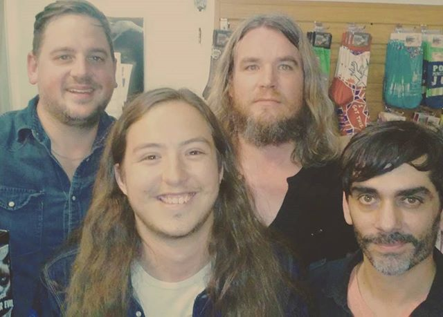 """Missed the show, but got to see and talk to these guys again! They co-released an EP """"Neighbors"""" with The Bright Light Social Hour today, and it's awesome. Check it out! #israelnash #tblsh #desertfolklore #neighbors"""