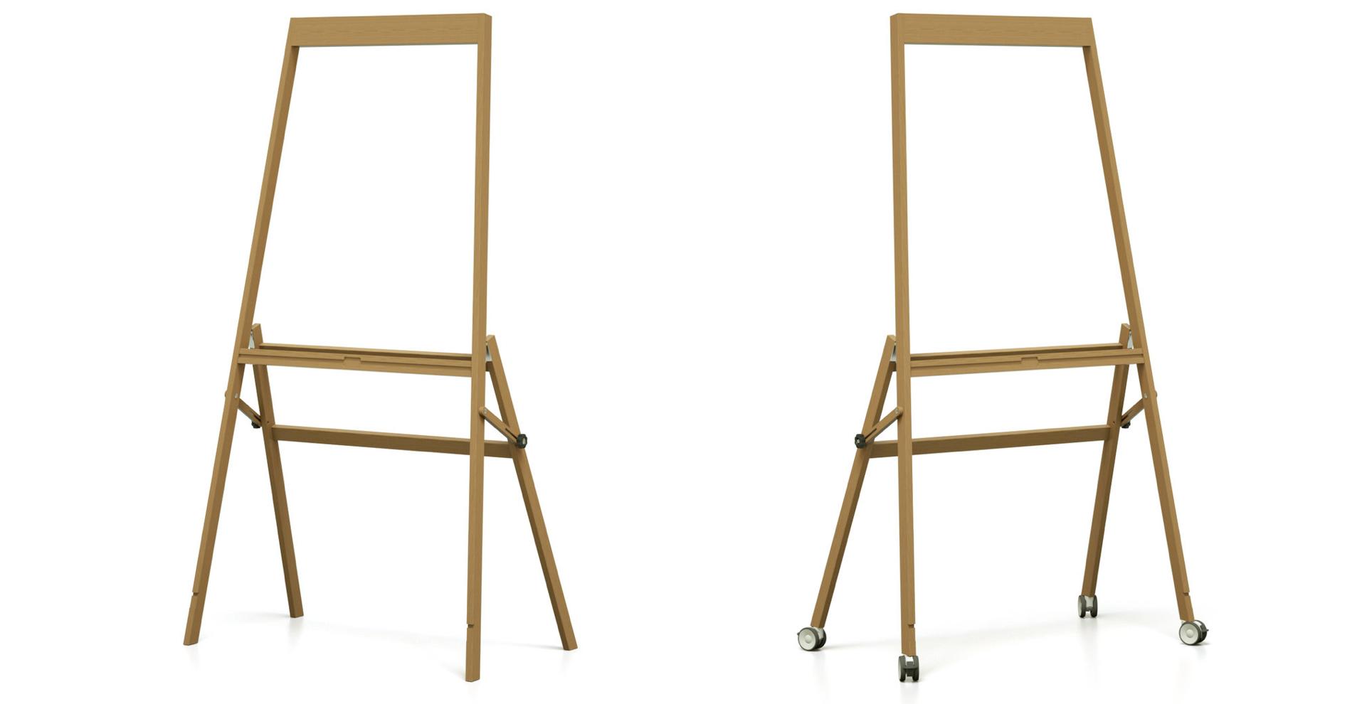Leichtes und flexibles Design Whiteboard Gestell ideal für Design Thinking Teams und Coworking Spaces