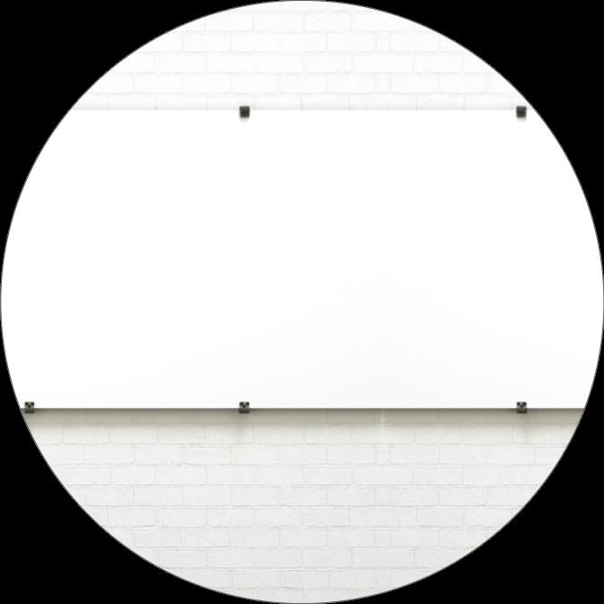 Mit den Studiotools Rails lassen sich beliebig viele Whiteboards nebeneinander ohne sichtbare Übergänge an einer Wand anbringen