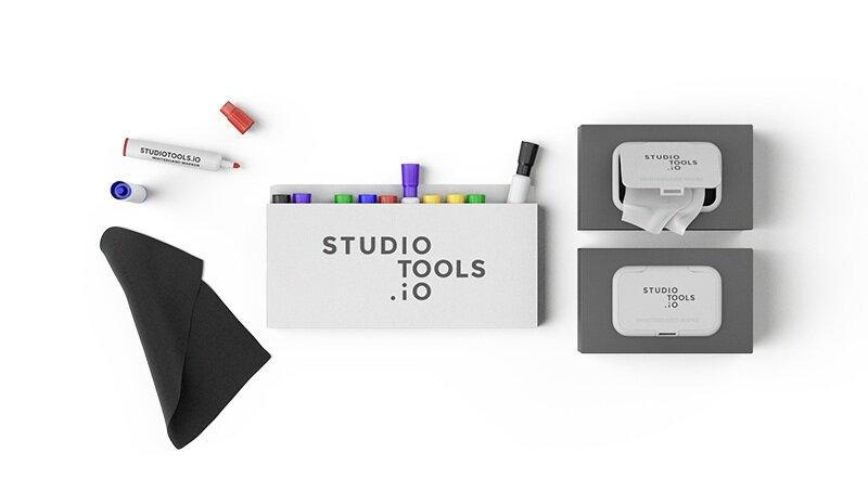 Das perfekt abgestimmte Whiteboard Zubehör macht die Toolbox zum idealen Design Thinking Set