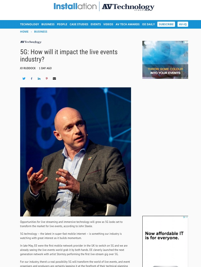 5g: How will it impact the live events industry?
