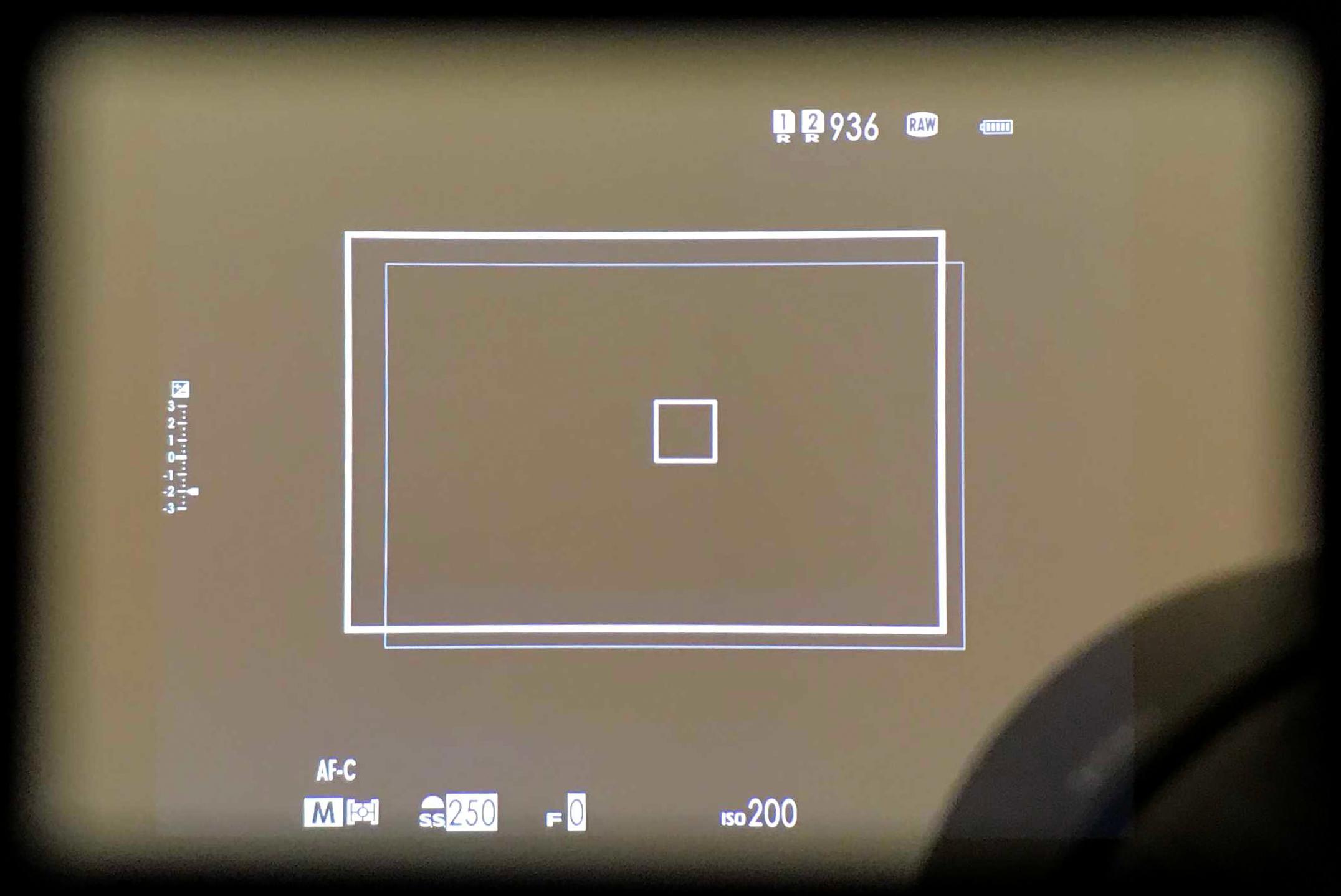Optischer Sucher an der Fuji X-Pro II mit dem Mitakon 35mm f/0.95
